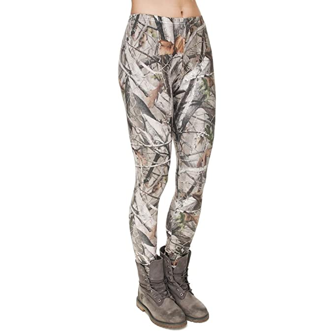 Amazon.com: Lady Leggings Impresión Digital De Camuflaje ...
