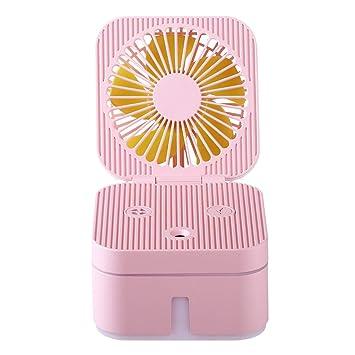 WOZOW Humidificador de Ventilador Cubo de Cubo Portátil Con Atmósfera Lámpara de Oficina Ventilador Humidificador de