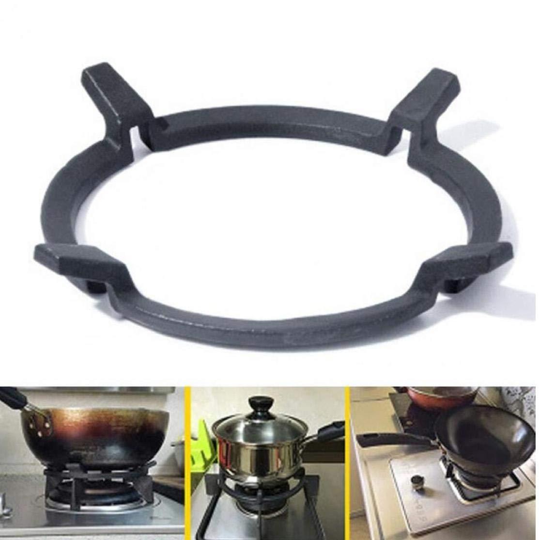 Byfri Wok Stands en Fonte Wok Pan Support Support pour gaz Plaques de Cuisson Cuisini/ères Cuisini/ères Fournitures Kitchecn Accessoires Outils