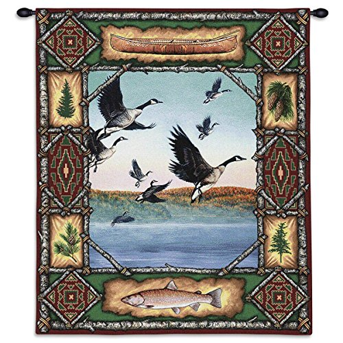 Black Forest Decor Geese Lodge Wall Tapestry
