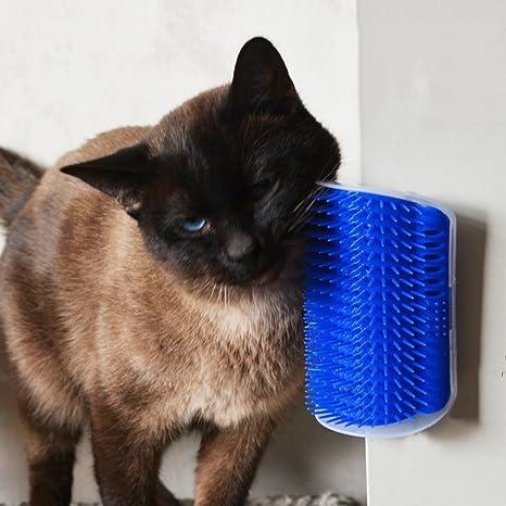 leoboone Útil plástico para Mascotas Gato Gato masajeador Cepillo cómodo rincón Gato Masaje Auto Peluquero Peine