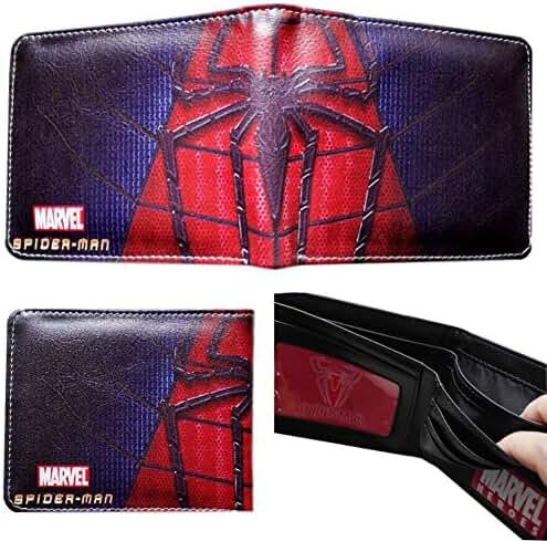Marvel Comics Spiderman Leather Bi-fold Men's/Boys Wallet with Gift Box