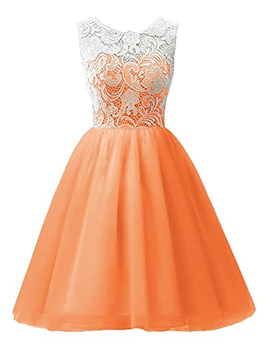MicBridal Flower Girl / Adult Ball Gown Lace Short Prom Dress