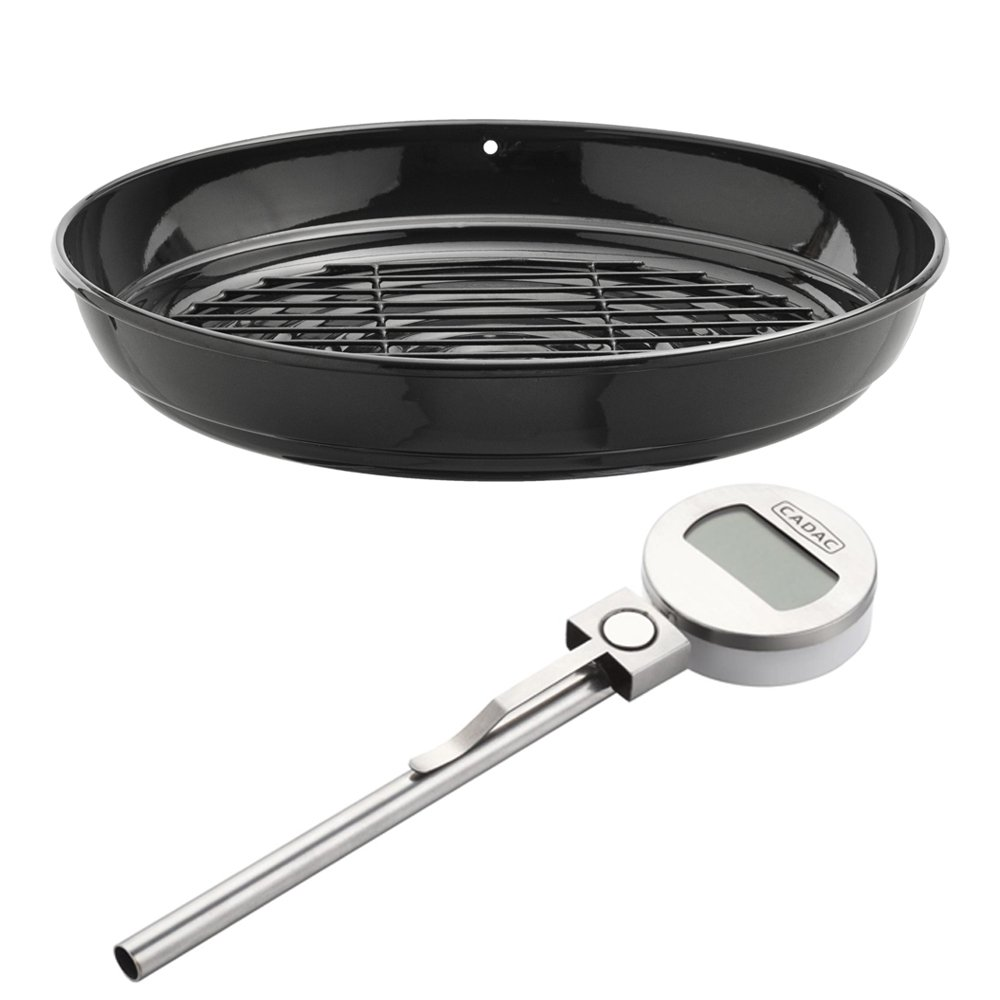 Cadac Roast Pan & Magnetic Meat Thermometer
