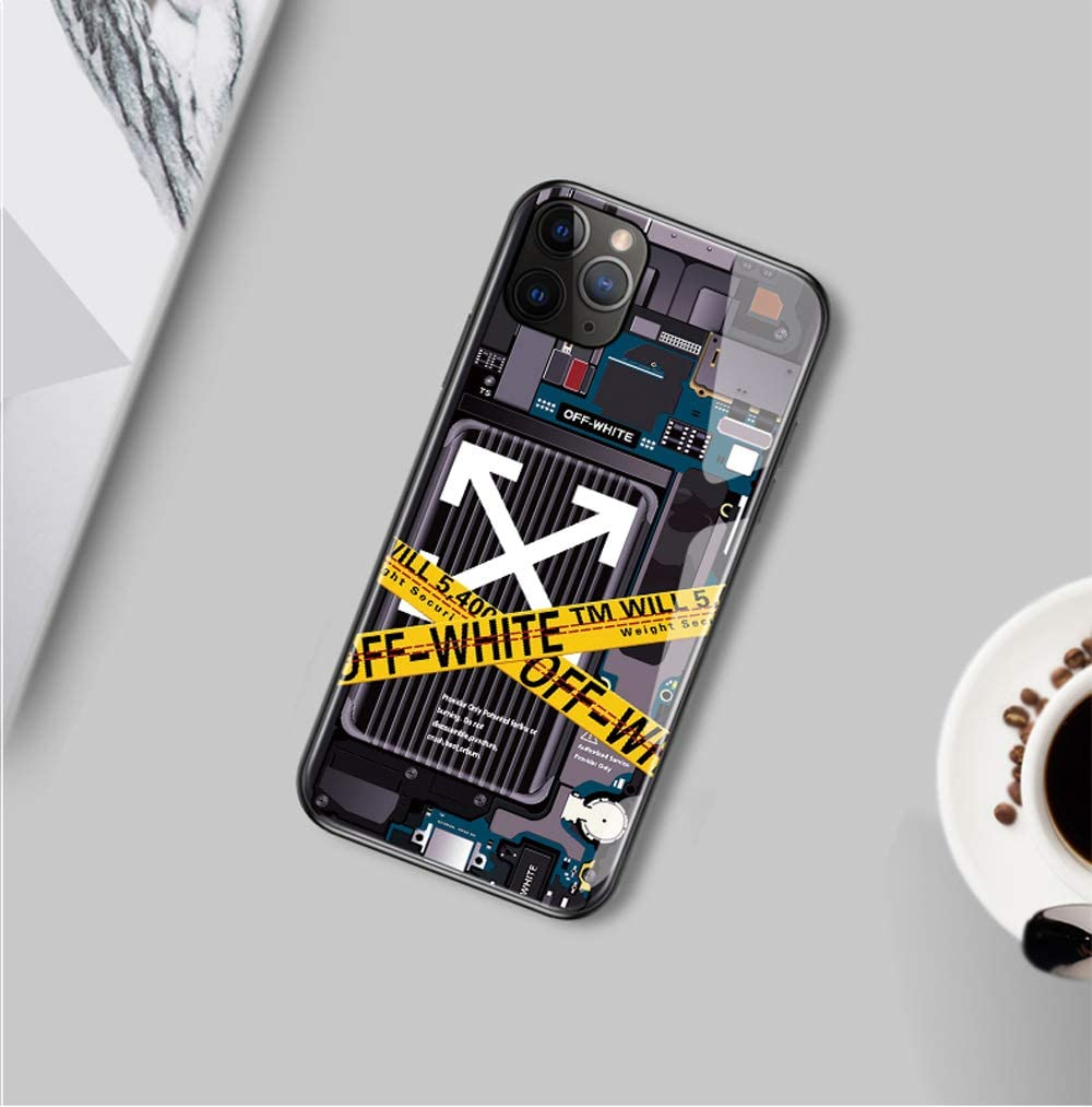 iPhone 7//8//7P//8Plus//X//XR//XS//XS Max//11//11 Pro//Pro Max//SE 2020 iPhone7//8//SE2020 LIVOREE Off-White Luminous iPhone Case Protective Case Cover Compatible with iPhone Series