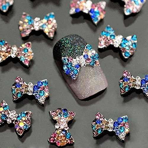 Used, 3D Nail Art Charms,Fashionclubs Glitter Bow Rhinestone for sale  Delivered anywhere in USA