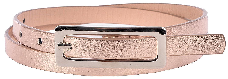 Sunny Belt Girl's Faux Leather Shiny & Skinny Peach Jean Belt KDC_SUN_SB_3587_PCH_S