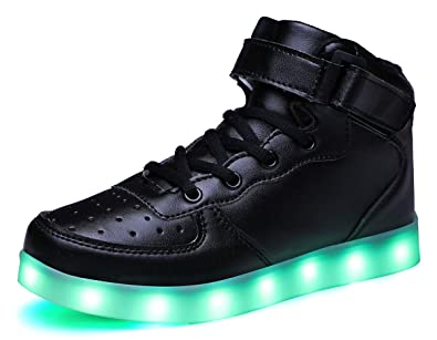 014a767fe12 SLEVEL LED Light Up Shoes Flashing Sneakers for Kids Boys  Girls(SL032GBlack25)