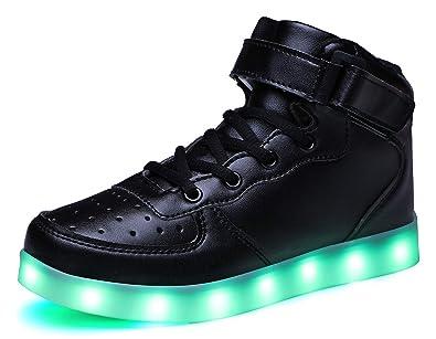 41d7ef7634b34 SLEVEL LED Light Up Shoes Flashing Sneakers for Kids Boys  Girls(SL032GBlack25)