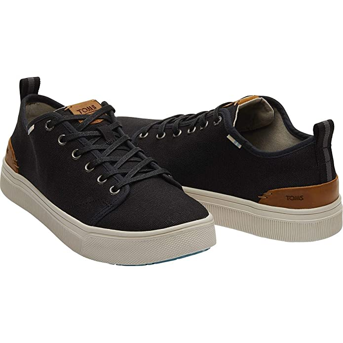 Amazon.com | TOMS Mens Trvl Lite Low Sneaker, Size: 8.5 D(M) US, Color: Blk Heritage Canvas | Fashion Sneakers