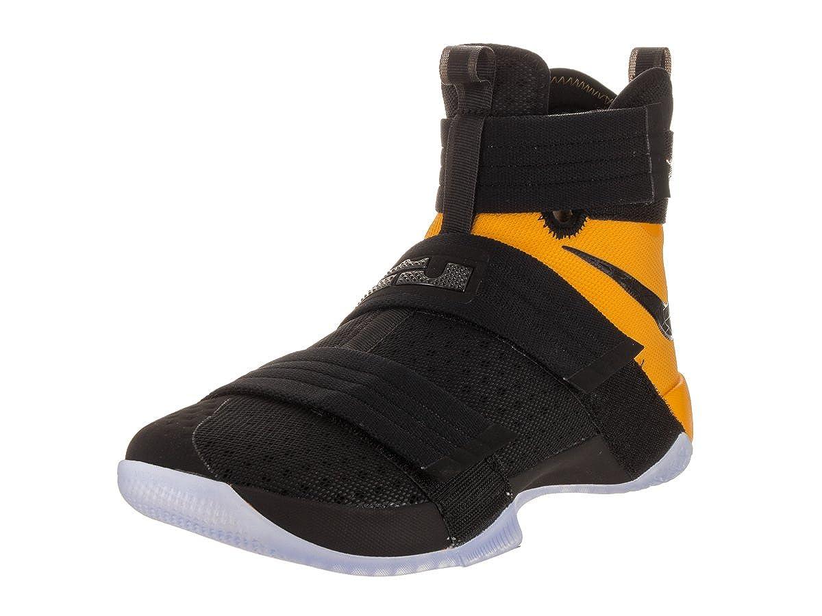 new arrival ac68f 0a8a0 NIKE Men's Lebron Soldier 10 SFG Black/Black University Gold Basketball  Shoe 12 Men US