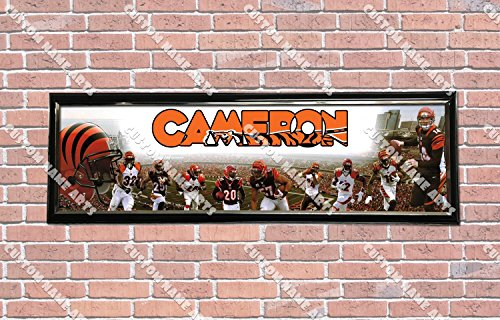 Personalized Customized Cincinnati Bengals Poster With Frame, With Your Name On It, Party Door Poster, Room Art Decoration, Wall Decor ()