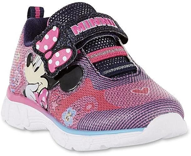 MINNIE MOUSE DISNEY Light Up Shoes Sneakers Toddler's Sizes