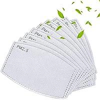 WENYING 50Pcs PM2.5 Filtros de carbón activado 5 capas reemplazables de papel de filtro antiniebla