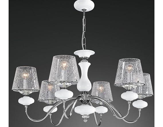 Lampadari E Plafoniere Abbinate : La lampada crackle lampadario a sospensione classico e moderno