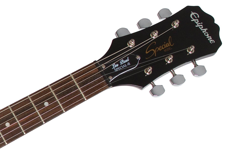 Amazon Com Epiphone Les Paul Electric Guitar Player Package Ebony