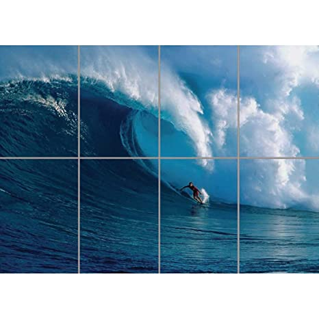 Amazon.com: Surf Surf Wave Ocean gigante Pared Póster G800 ...