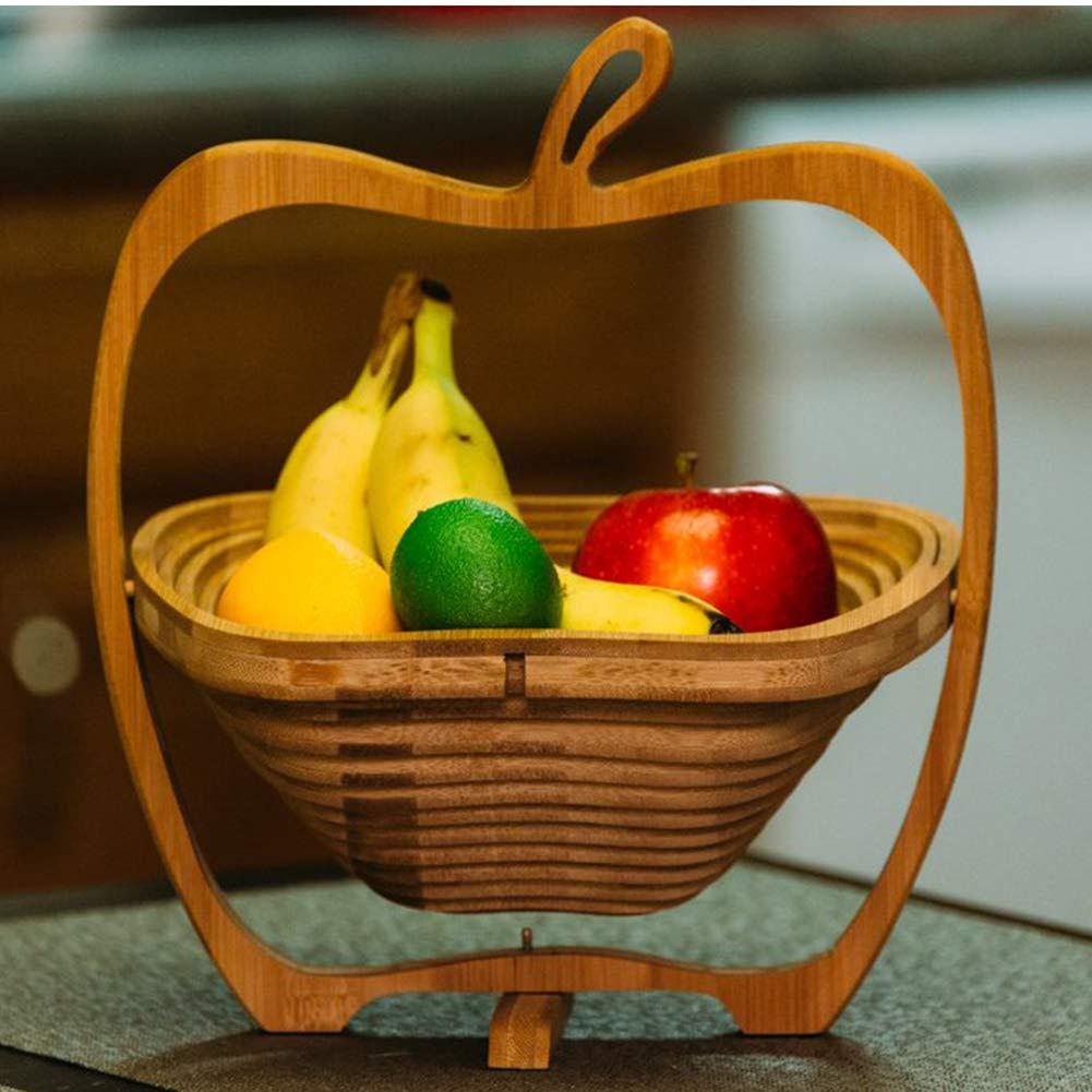 Airymap Cesta De Fruta Para Cocina Organizador de Mimbre Plegable,Guardar Vegetales