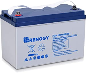 Renogy Deep Cycle Hybrid Gel 12 Volt 100Ah Battery