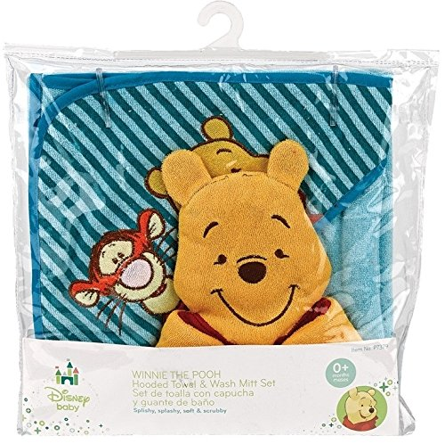 Amazon.com : Winnie The Pooh Hooded Towel Gift Set : Baby Bathing Products : Baby