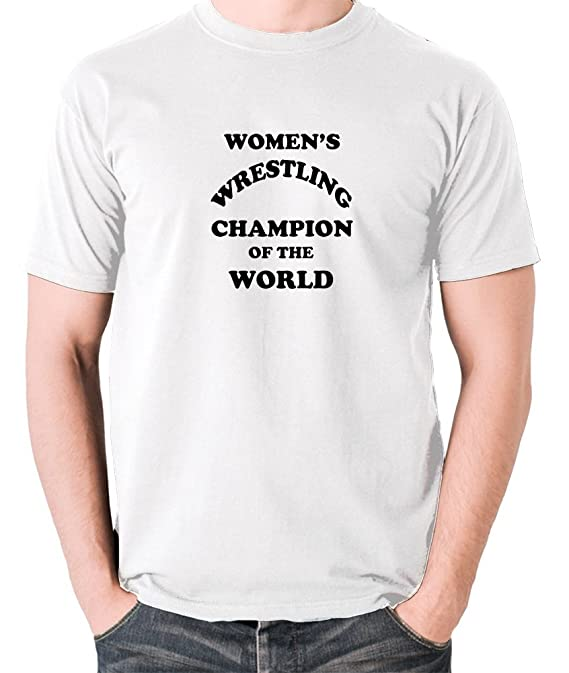 1f191794f5f5 Amazon.com: Andy Kaufman Inspired t Shirt - Women's Wrestling Champion of  The World: Clothing