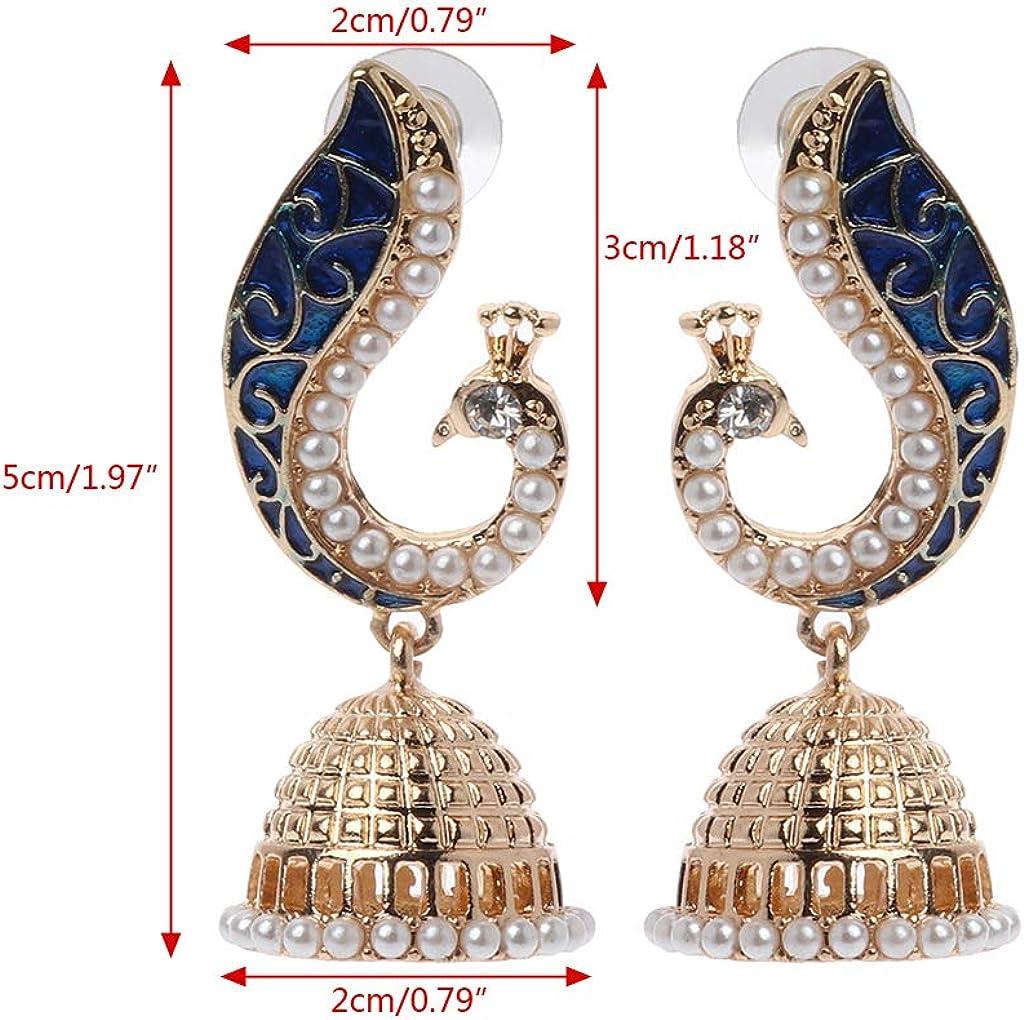 Womens earring,Brass Gold Earrings,Dangle Earrings,Tribal Brass Dangle Earrings,hoop earring,boho earring Gift For Mom Peacock Earrings