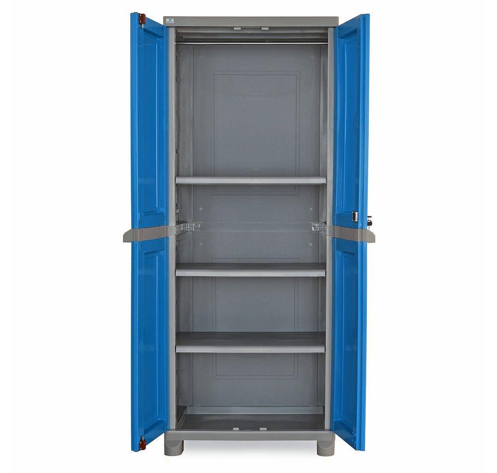Nilkamal Freedom FB1 Big Storage Cabinet (Dark Blue and Grey ...