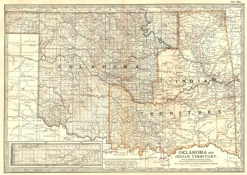 Oklahoma. & Indian Territory - 1903 - Old map - Antique map - Vintage map - Printed maps of Oklahoma ()