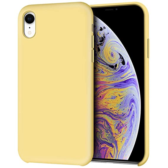 silicone iphone xr case yellow