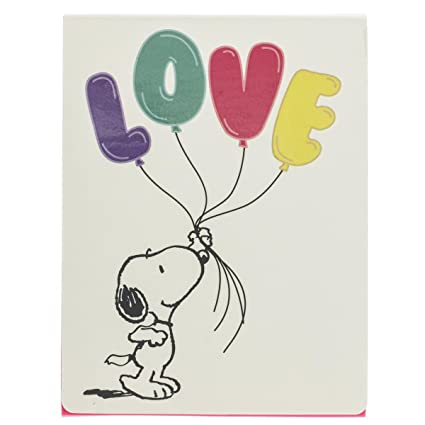 Graphique Peanuts Snoopy Love Purse Notes – Pocket Notebook with Smiling Snoopy Holding Colorful Love Balloons