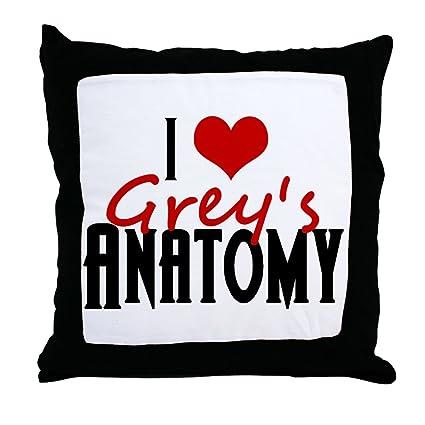 Amazon Cafepress I Love Greys Anatomy Decor Throw Pillow 18