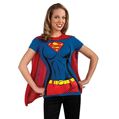68f09c42 Amazon.com: Supergirl Womens T-Shirt Costume Kit: Clothing