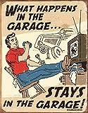 Schonberg - Happens in Garage Metal Tin Sign , 12x16