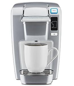 "Keurig 119250 K15Platinum K15 Single Serve Compact K-Cup Pod Coffee Maker, Platinum, 6.90"" x 10.70"" x 10.80"""