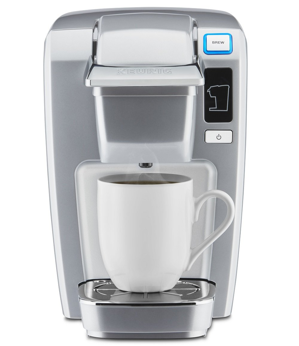 Keurig K15 Single Serve Compact K-Cup Pod Coffee Maker, Platinum by Keurig