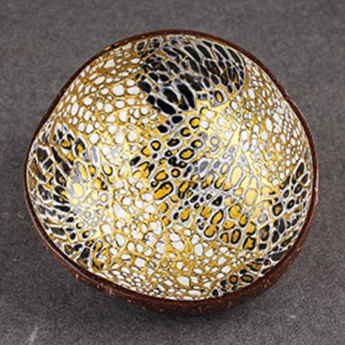 ASMGroup Decorative Bowl Eco-Friendly Fruit Coconut Shell Dish Candy Storage Decoration Non-Toxic Bowl Natural 7 (Dish Candy Shell)