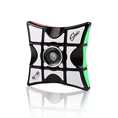 Ahyuan Fidget Spinner Cube 1X3X3 Speed Cube Floppy Cube Puzzle Spinner 2 in 1 Fidget Puzzle Brain Teasers Spinning Top Anti-Anxiety Fidget Toys for All Ages: Toys & Games