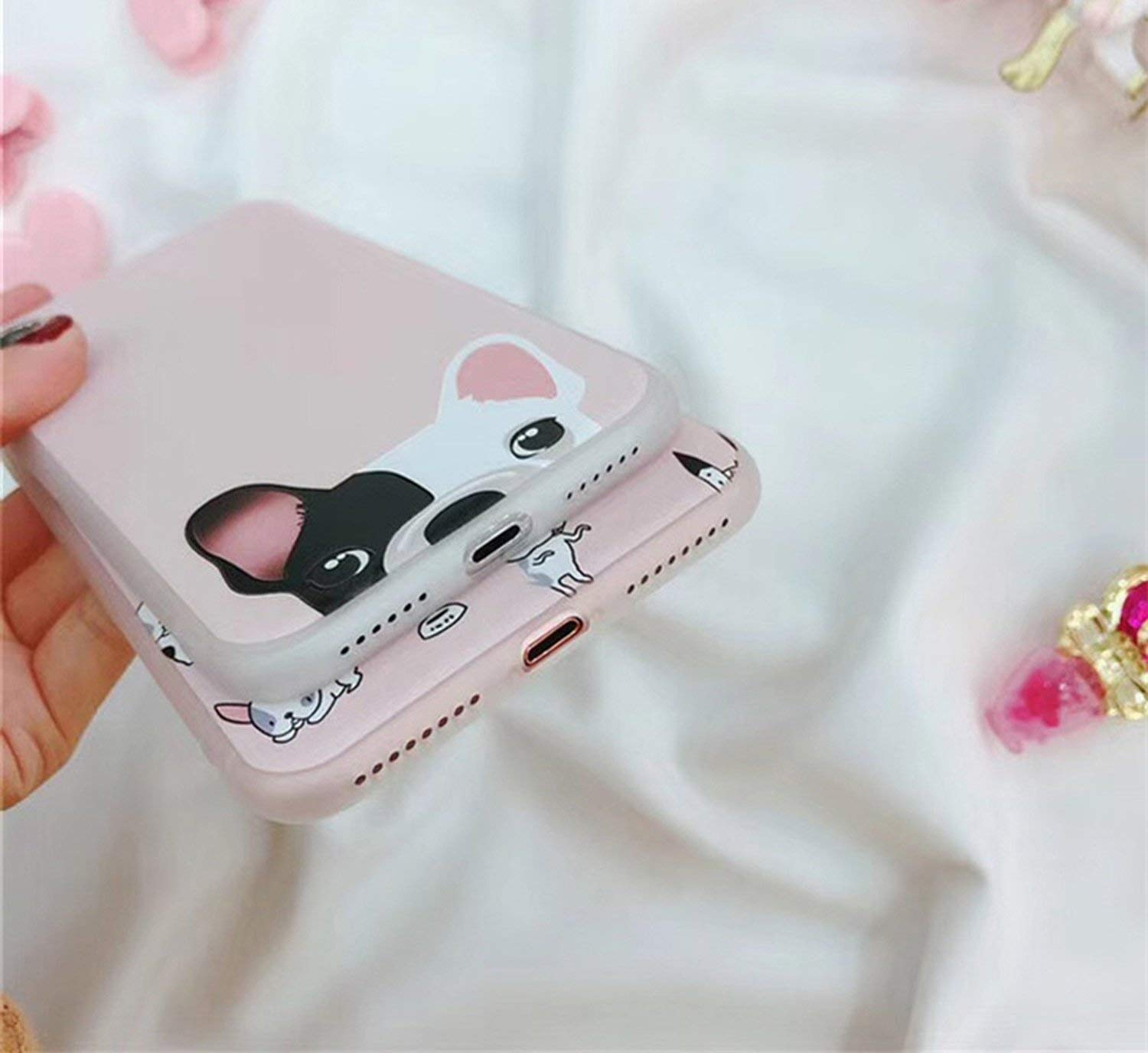 Amazon.com: Lovely Dog Matte Phone Case for iPhone 7 6 6S 8 ...