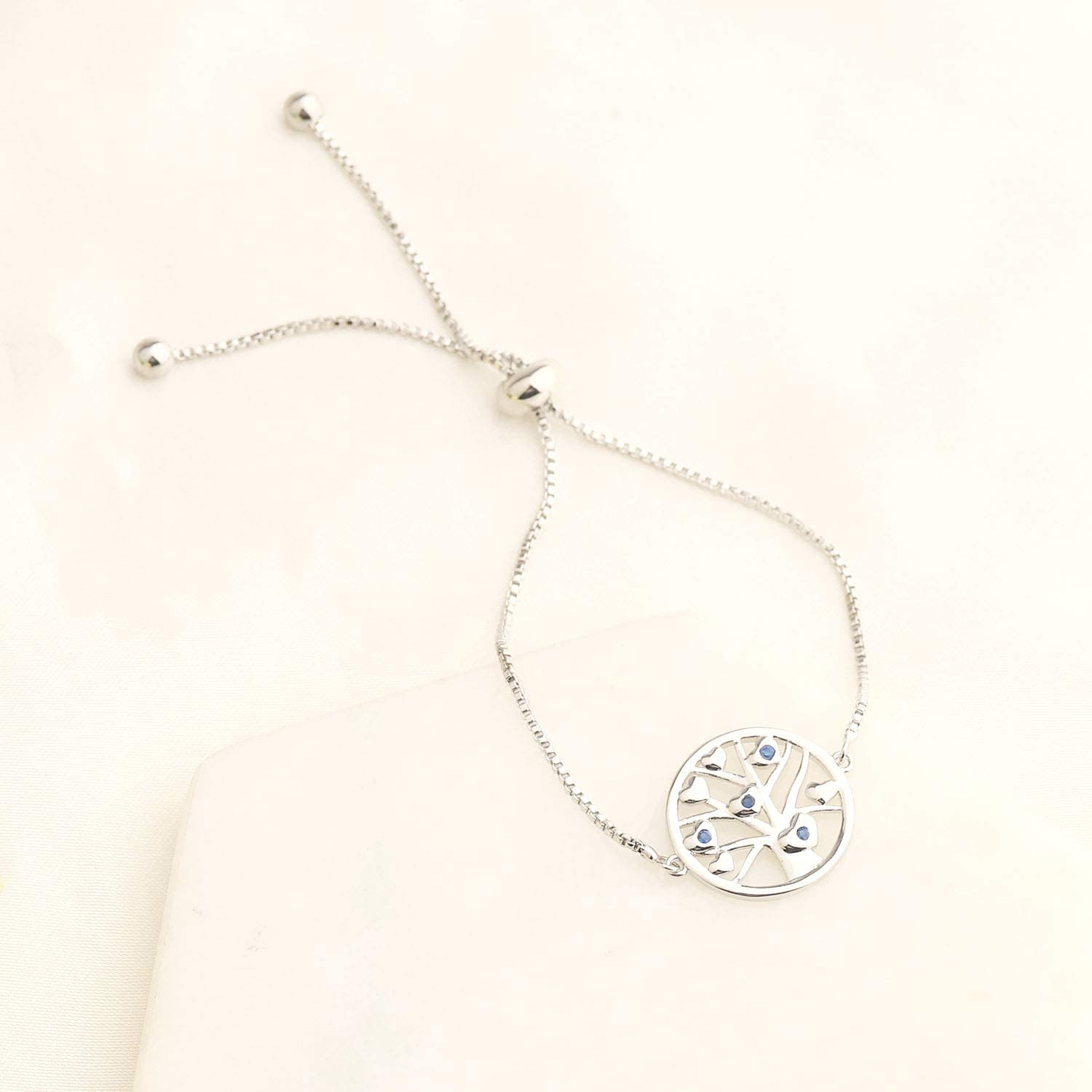 bobauna Family Tree of Life Charm Adjustable Chain Bracelet Meaningful Inspirational Jewelry Gift for Family Best Friends