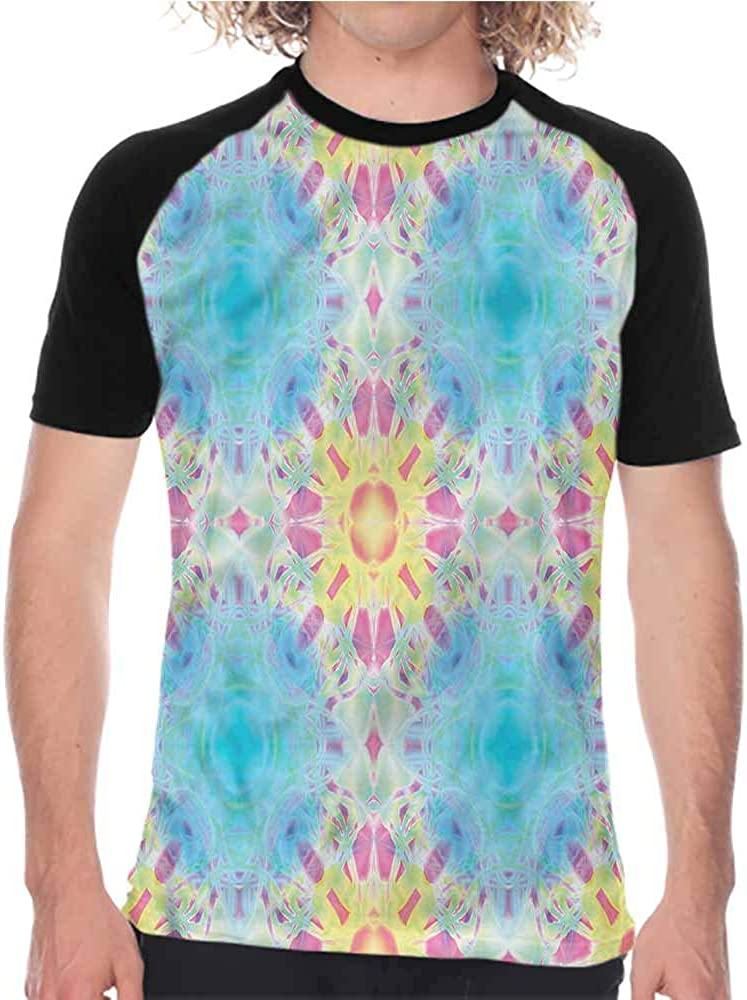 Psychedelic,T-Shirt Girl Body Tattoo Yoga,Mens Short Sleeve Athletic Tops
