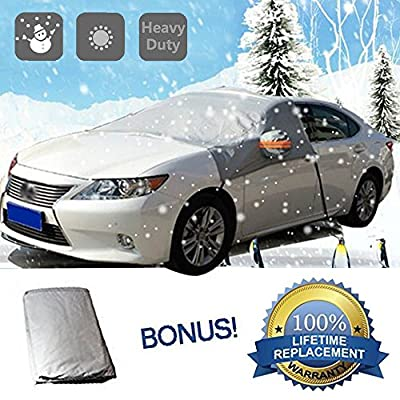 Windshield Sun Rain Snow Cover AYAMAYA Ultra Durable Weatherproof Design Dust Protector Cover Frost Guard Protects Windshield, Wipers, and Mirrors windproof trap (Pack of 1)