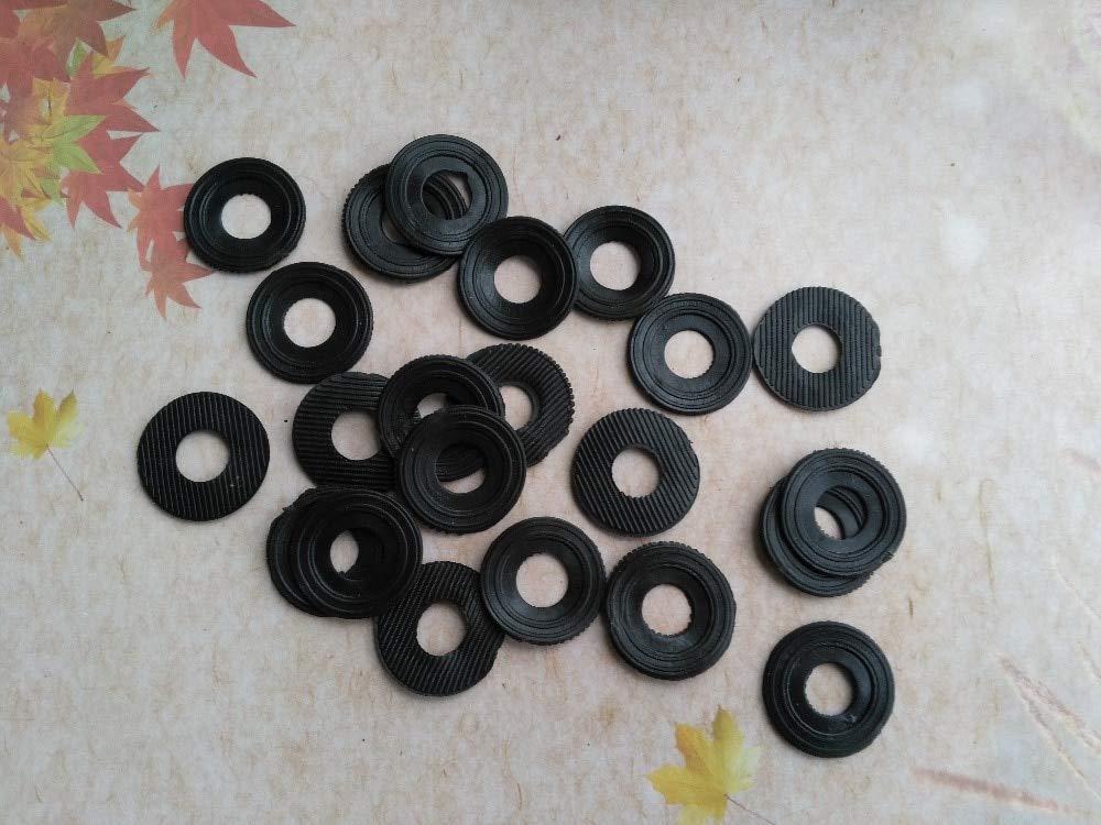 Maslin 500PCS Round Black Rubber Gasket for DIY Clock Repair Kits Clock Movement Repair Replacing Tools