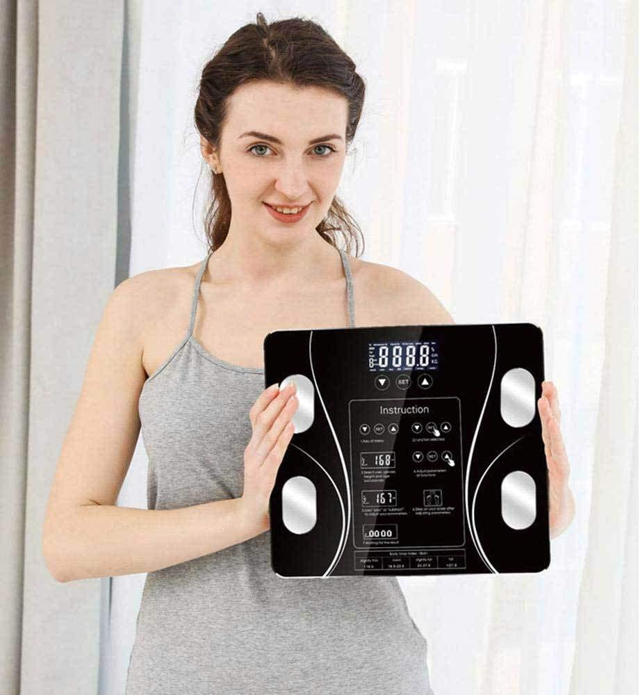 5-180kg Body Weight Scale Body Fat Electronic Bathroom Scales Floor Digital Scale Water Mass Health Precision Smart Weighing Scales-Battery_A Charging a