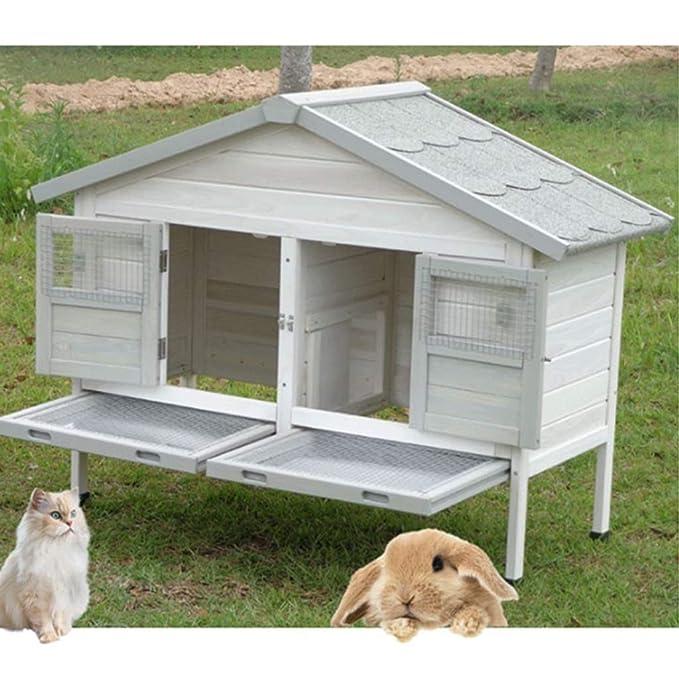 LSWUDU Jaula para Conejos Extra Grande Jaula para Gatos Jaula de ...