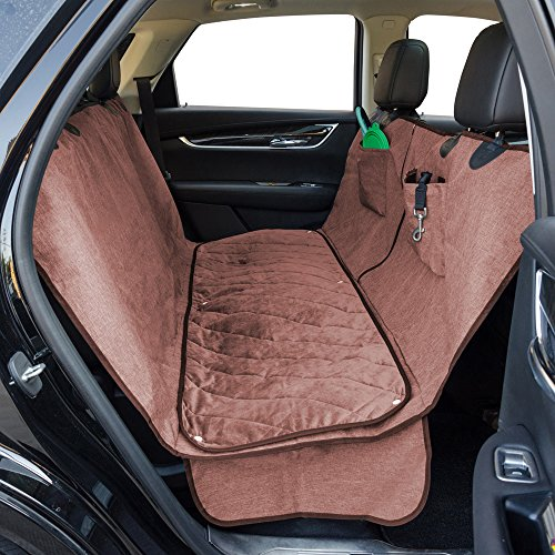 Amazon Dog Car Seat Cover With Deluxe Removable Velvet Pad For Cars Trucks SUVs Pet 100 Waterproof Non Slip Backing Hammock