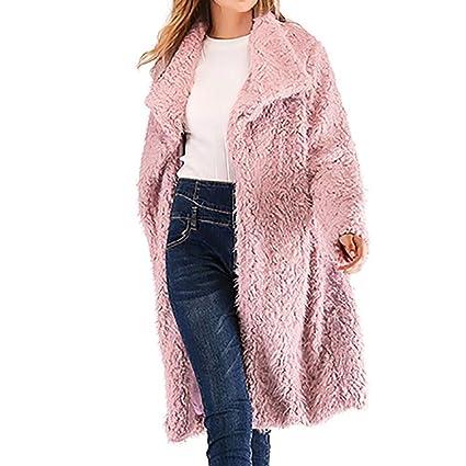 Amazon.com: AOJIAN Women Jacket Long Sleeve Outwear Plush Solid Loose Cardigan Overcoat Coat: Clothing