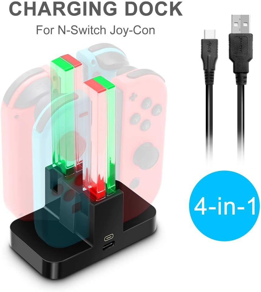 Amazon.com: 4 in 1 Joy Con Charging Dock for Nintendo Switch ...