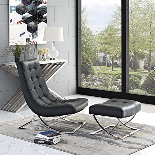 Modway Slope Living Room Set (Set of 2), Black, 53