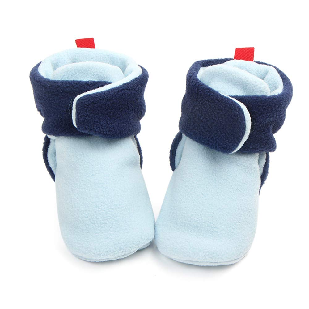 Greceen Newborn Infant Baby Girls Boys Warm Fleece Spring and Autumn Booties First Walkers Slippers Shoes