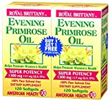Cheap Evening Primrose Oil 1300mg Royal Brittany Twin Pack American Health Products 12